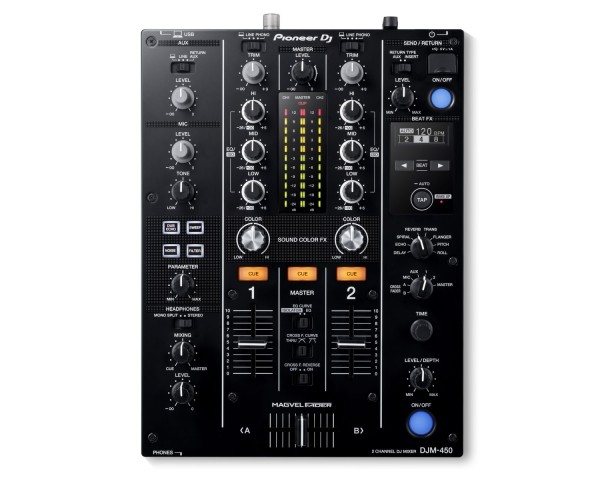 DJM450K 2Ch DJ Mixer with USB & On-Board Effects BLACK
