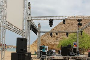 Hire staging & truss from Bright Lights in Muscat, Oman